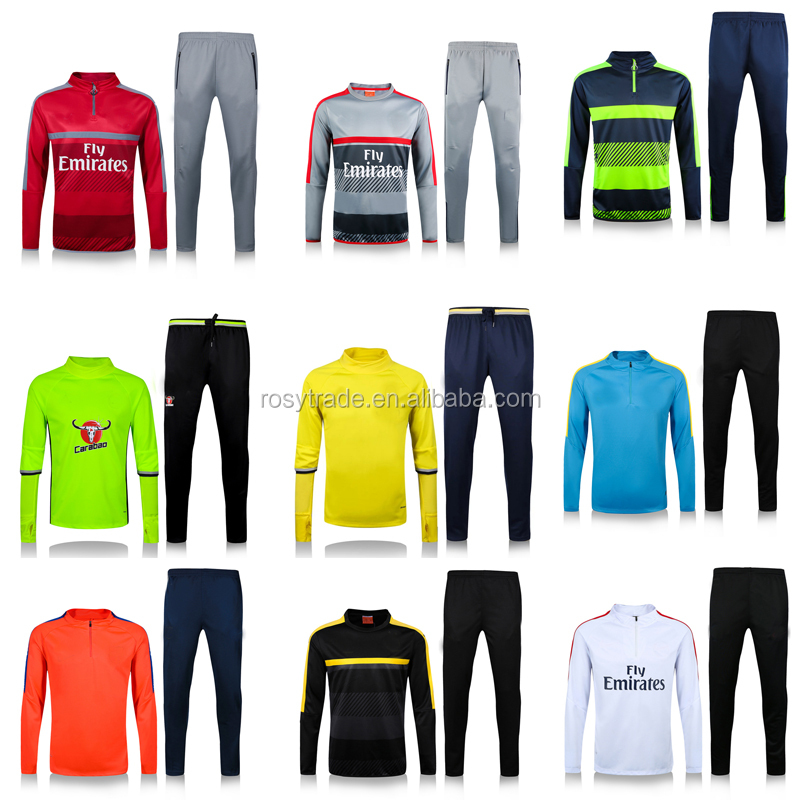 2016 New season Thailand Quality Club Soccer Tracksuit latest design tracksuit mens tracksuit