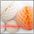 White Tissue Paper Honeycomb Ball Hanging Decor for Wedding Party