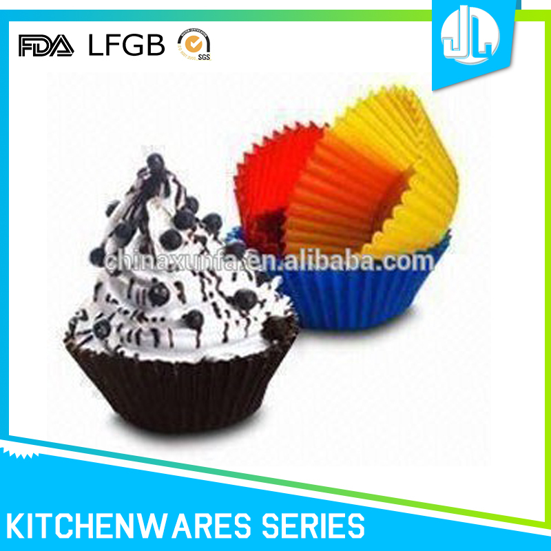 Popular colorful baking silicon non-stick case cupcake silicon