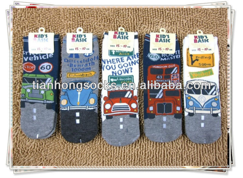 kids cartoon socks lovely cartoon character pattern cotton ankle socks wholesale hot selling popular best kids socks small MOQ