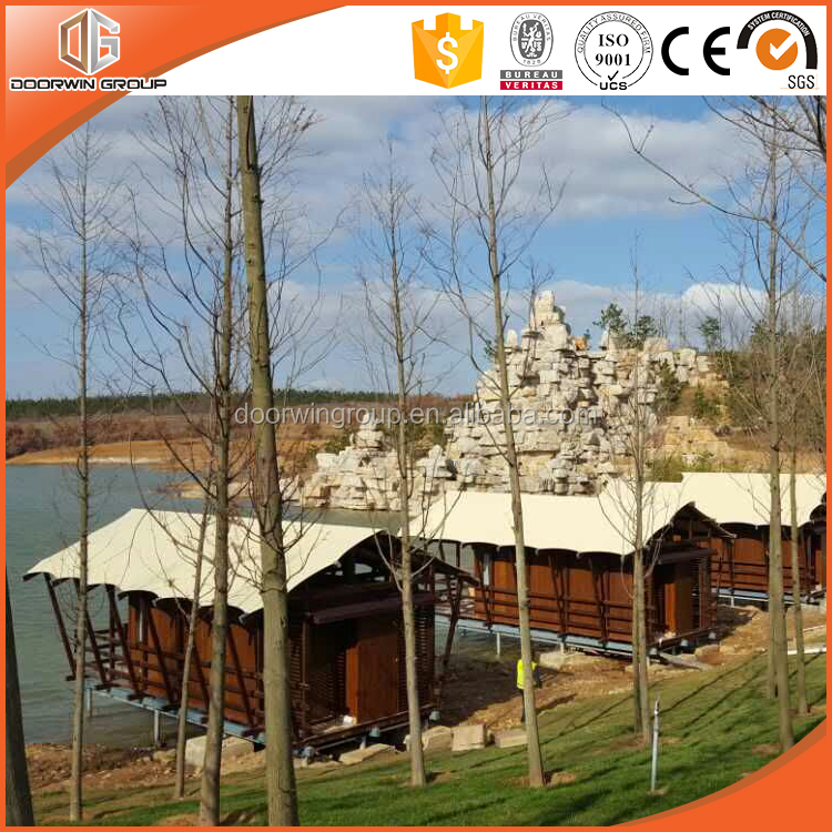 Russian log cabins wooden house prefabricated house wooden from window and door supplier