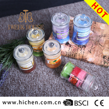 Pleasant smell soy or paraffin wax clear glass jar candles for unique and unforgettable moments