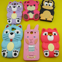 Factory Price Funny Animal Shape Cute Cheap Silicone Protective Cell Phone Cover Case