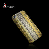 Phone case snake skin pattern mobile phone leather case for iphone5