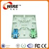 FTTH Fiber optic faceplate ABS plastic network faceplate (Fiber optic Owirefaceplate)