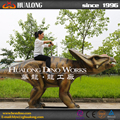 Animatronic triceratops dinosaur model outdoor amusement park for adults