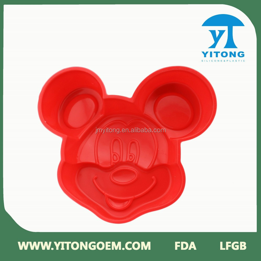 cartoon mouse silicone cake mold for kids