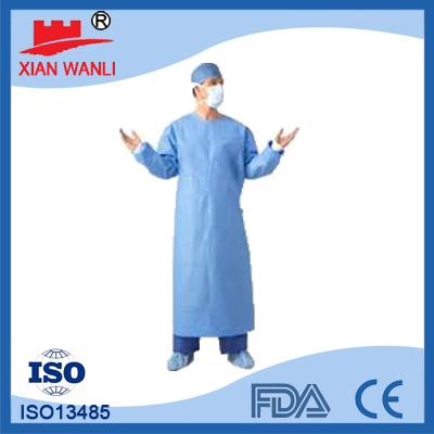 Blue Nonwoven Disposable Hair Net Snood Caps