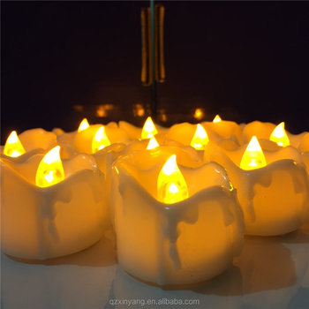 Flamless Feature Yellow Flickering Mini Led Candle Light For Home Decoration
