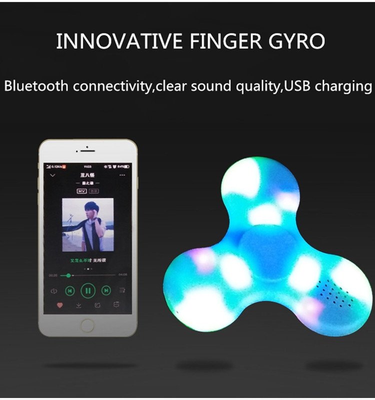 Hottest Gadget Spinner Toy Bluetooth LED Light Hand Spinner with Music