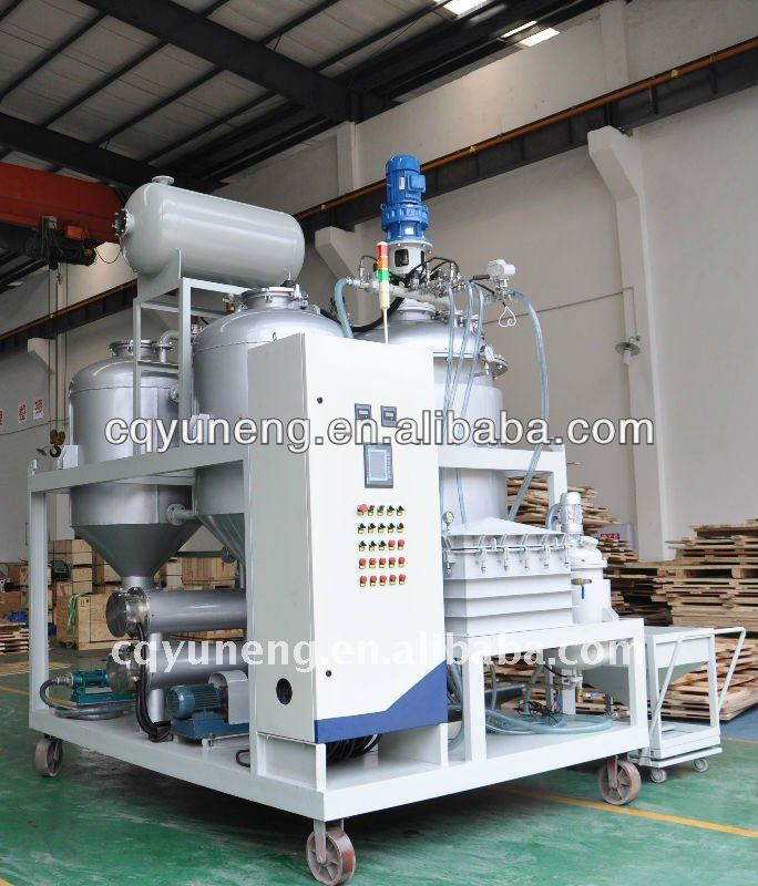 Used engine oil air distillation recycling machine to black oil recycling refinery(CE)