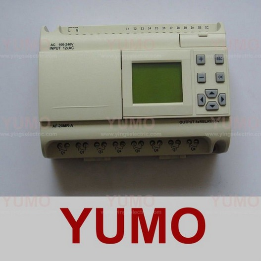 YUMO AF-20MR-A with LCD Point AC digital input 8 points relay output integrated PLC