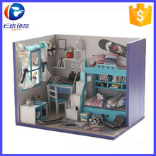 Diy Best Selling Wooden Economic Play Toys Doll House