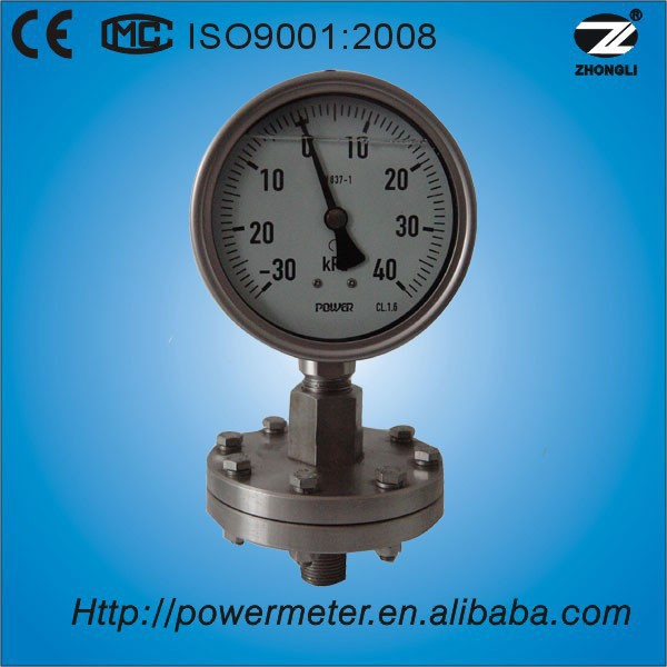 100mm stainless steel diaphragm gas meter