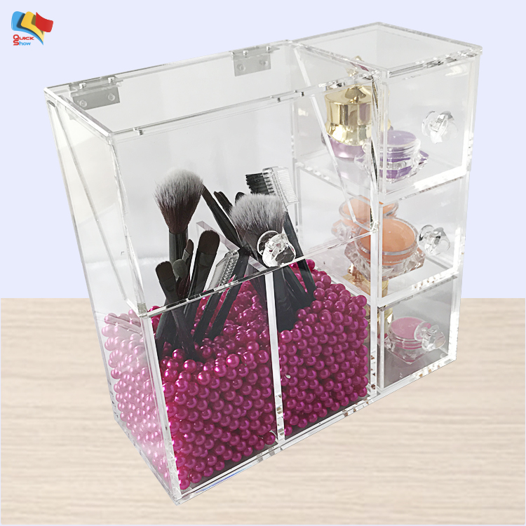 Wholesale Acrylic Makeup Cosmetic Brush Display Holder Storage Case