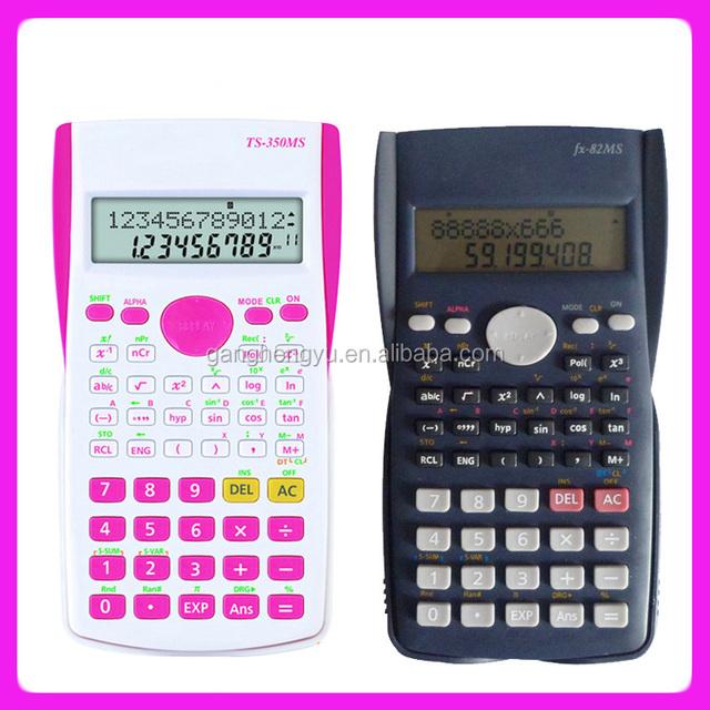 2-line LCD display scientific calculator FX-350MS,10 digit calculator
