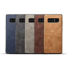 Retro Crazy Horse Pattern PU Leather Case Back Cover for Samsung Galaxy Note 8 All-round Anti-drop Protective CA5963