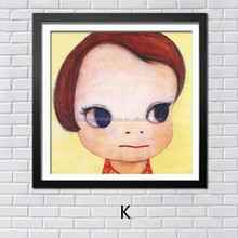 Wholesale dropshipping modern girl decorative oil painting on canvas for kids room