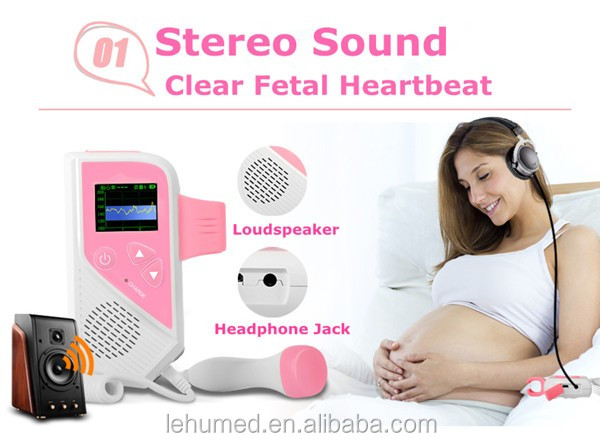 2017 Newest Hot Sale Fetal Doppler/Baby Heartbeat Monitor/Pocket Fetal Doppler with CE Approval