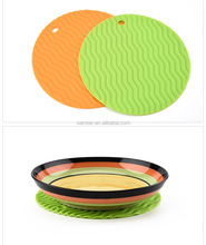 Heat resistant home kitchen round silicone pads, placemat for sales