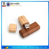 High quality wooden usb flash drive with box