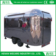 2017 hot sales custom design pizza food, bbq, hot dog fast food mobile kitchen trailer/food trailer cart with wheels