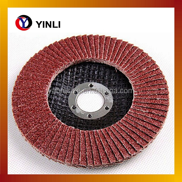 115mm metal Alumina Oxide flexible flap disc
