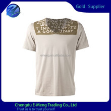 Professional oem service plain t-shirt with v-neck