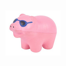 Anti Stress PU Pig Stress Ball with Glass