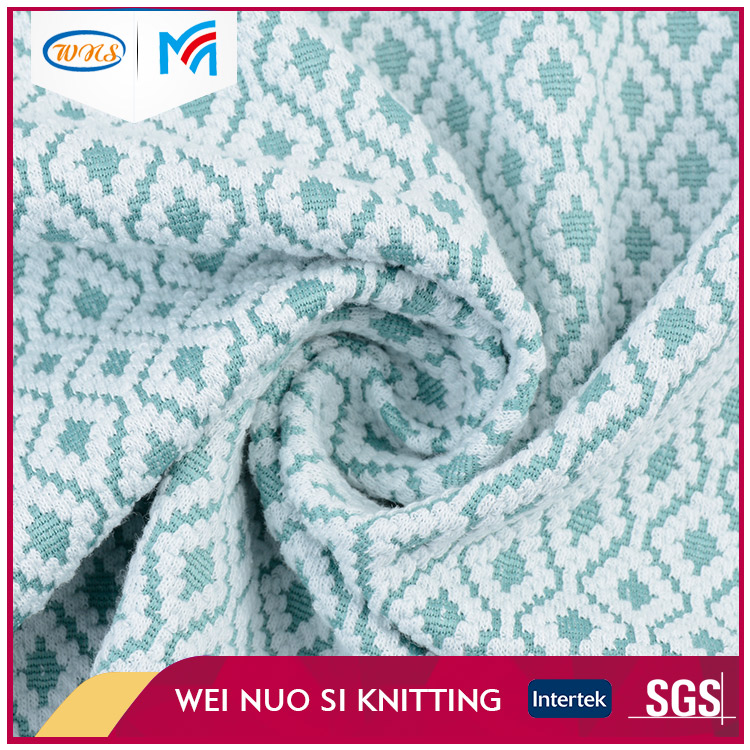 China Factory manufacturer light green knitted fabric for garment