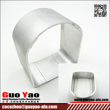 6000 Series Silver Anodized U Channel Aluminum Extrusion Profile