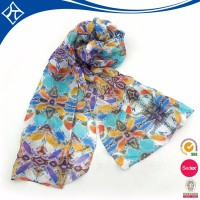 custom 100% silk scarf flower wholesale india