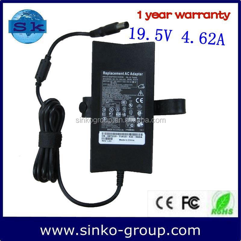 Wholesale 19.5V 4.62A Powering Mans Adapter Convert PA-3E for DELL with 7.4*5.0
