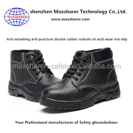 hot selling cheap safety shoes ,steel toe high-cut steel toe safety shoes