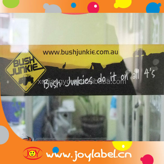 basic vinyl window reverse sticker printing for car sticker