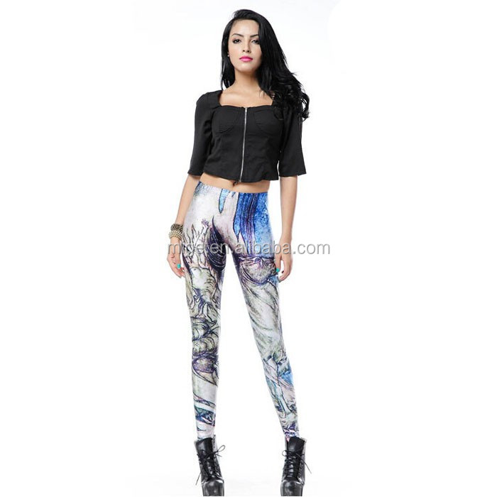 Sexy Digital Print Stretchy Fire Horse Leggings For Women (DK1192)