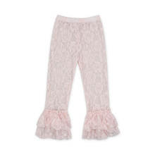 wholesale new design ruffle lace kids baby pants for girls