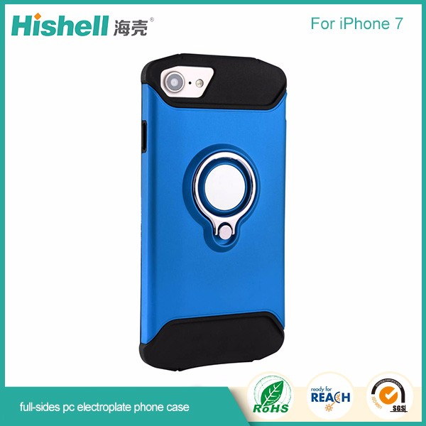 High quality 2 in one electroplate phone case with magetic for iphone7