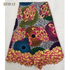 New Design Wholesale African Lace Embroidery Wax Printed Fabric