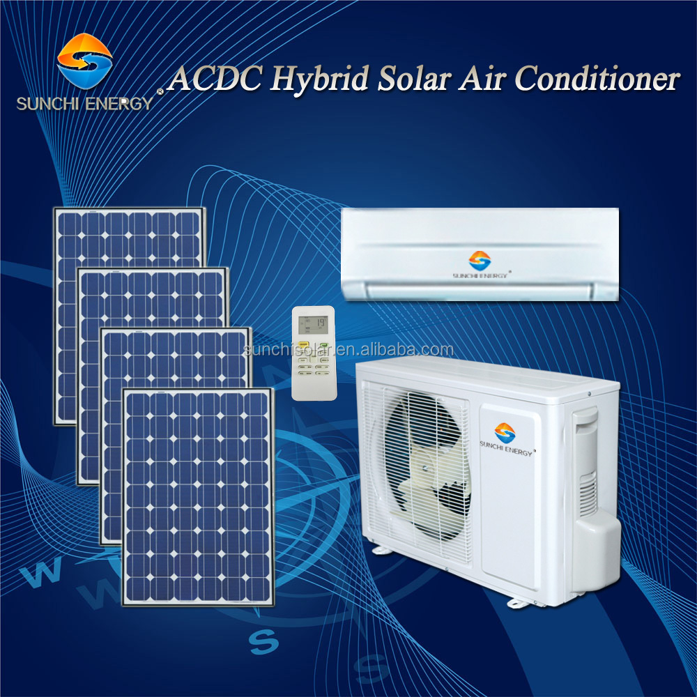ACDC type hybrid 9000btu 12000btu room split wall mounted home best solar air conditioning services