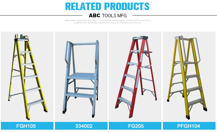 Alibaba supplier cheap fiberglass safety lightweight folding step ladder