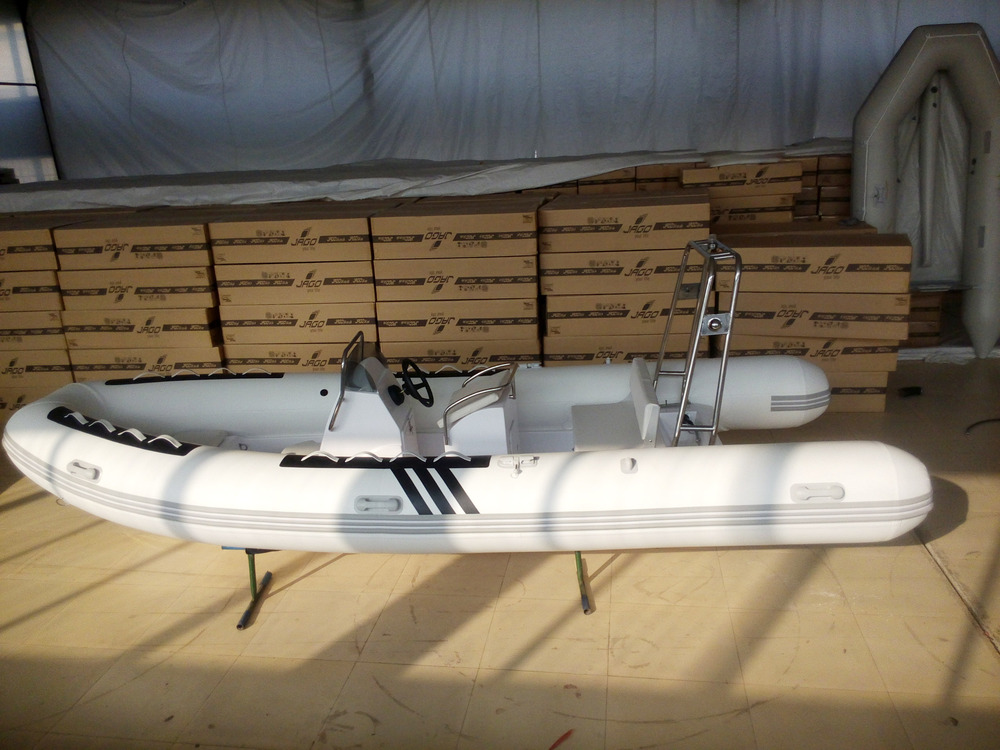 RIB Inflatable Boat with PVC tube and fiberglass hull