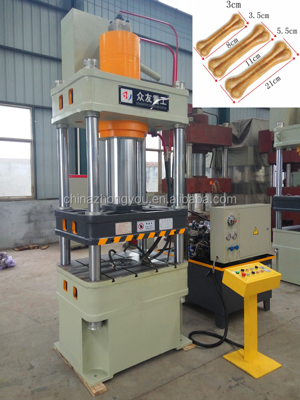 Customized Rawhide Dog Bone Pressing Machine With mould