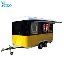 4 meter length fiberglass enclosed street mobile fast food cart trailer