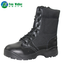 Shining black genuine leather liberty tactical jungle military boots