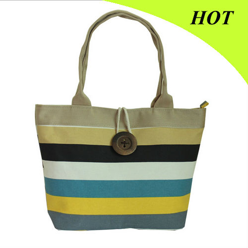 New Korean striped fashion bag canvas shoulder bag factory stock wholesale C7