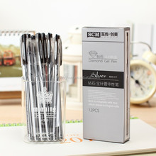 12 pcs/lot Water Pen, Watercolor Pens for Scrapbooking Photo album Roller Gel Pen Stationery Free shipping