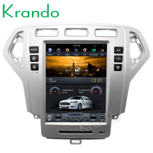 "Krando Android 10.4"" Tesla Vertical screen auto radio car dvd player for FORD Mondeo 2007-2012 gps navigation system KD-FV232"