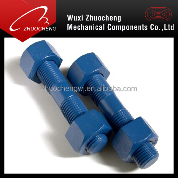 heavy tensile b7 ptfe coated double end threaded rod