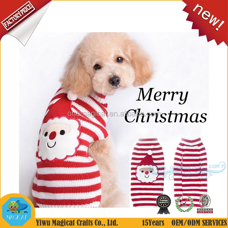 Christmas Santa Claus Dog Sweaters Wholesale Winter Costumes for Pet